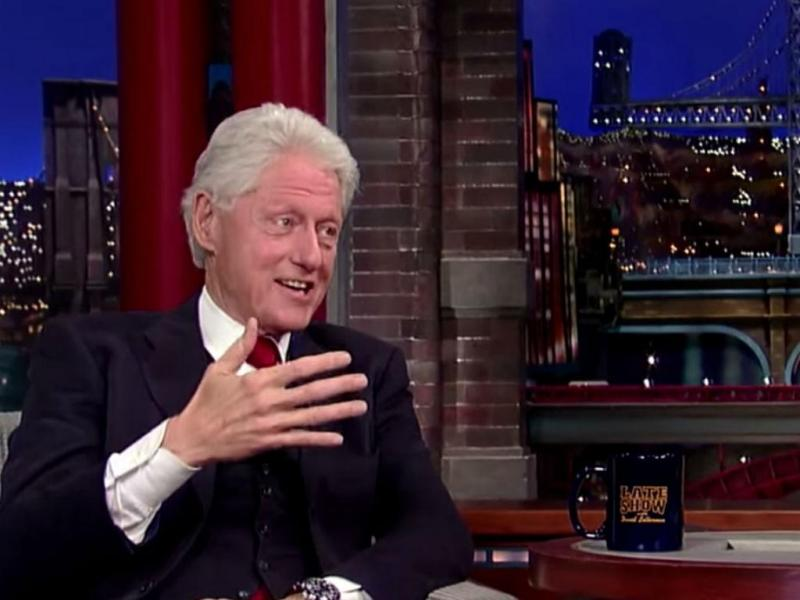 "Bill Clinton no ""The Late Show"" (Reprodução Youtube)"