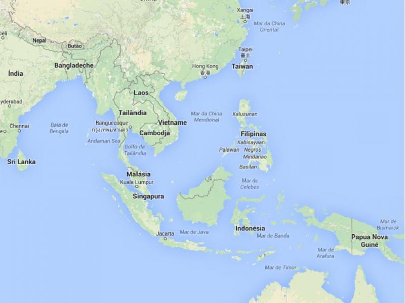 Tailândia, Indonésia e Malásia (Google Maps)