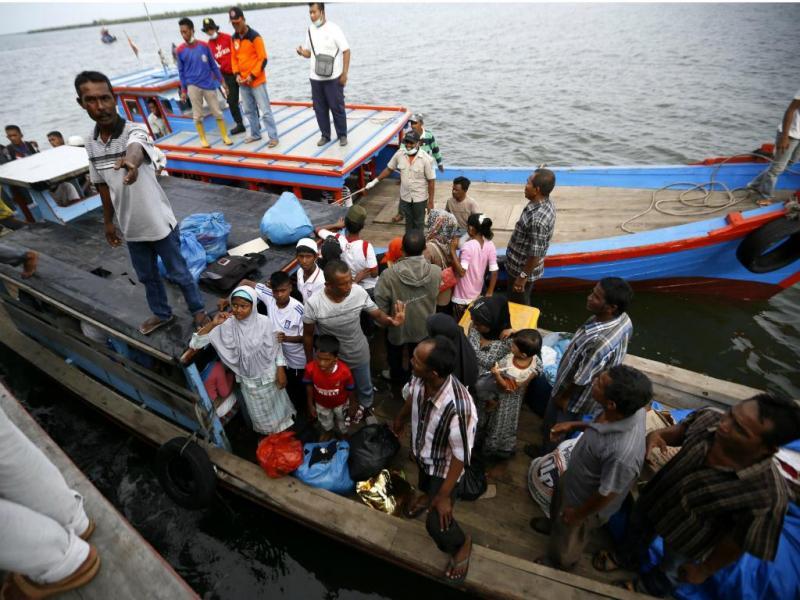 Imigrantes na Indonésia (EPA/Hotli Simanjuntak)