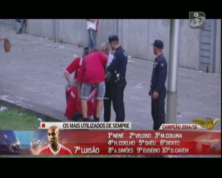 Detenção violenta após o jogo do Benfica em Guimarães