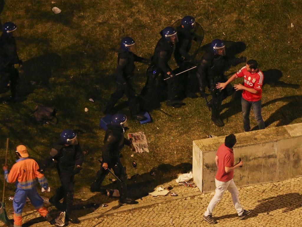Confrontos em Lisboa após o título do Benfica (José Sena Goulão/Lusa)