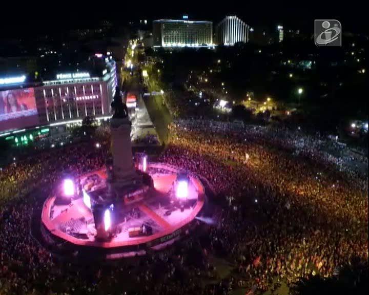 Imagens impressionantes: a festa no Marquês vista por um drone