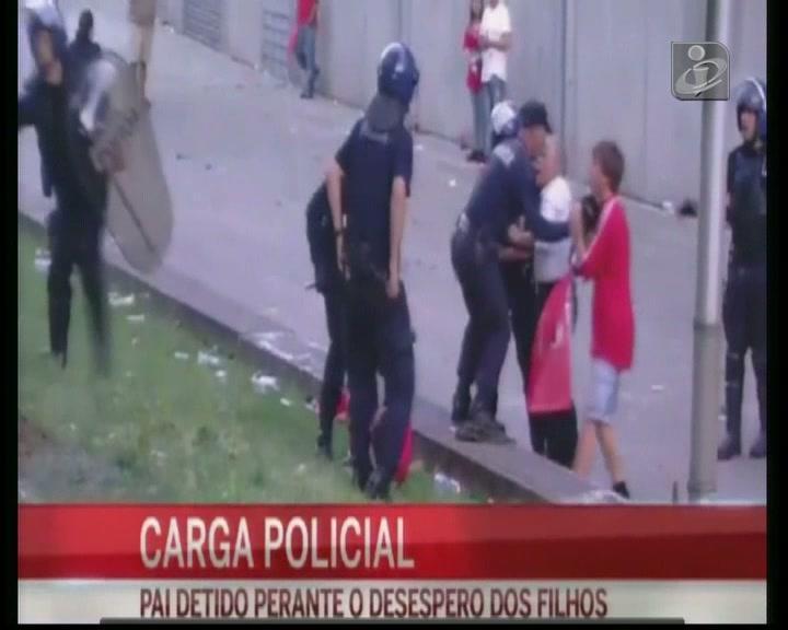 Mais pormenores da agressão do polícia a adepto do Benfica em Guimarães