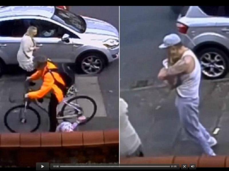 Ciclista atropela menina de três anos e foge do local