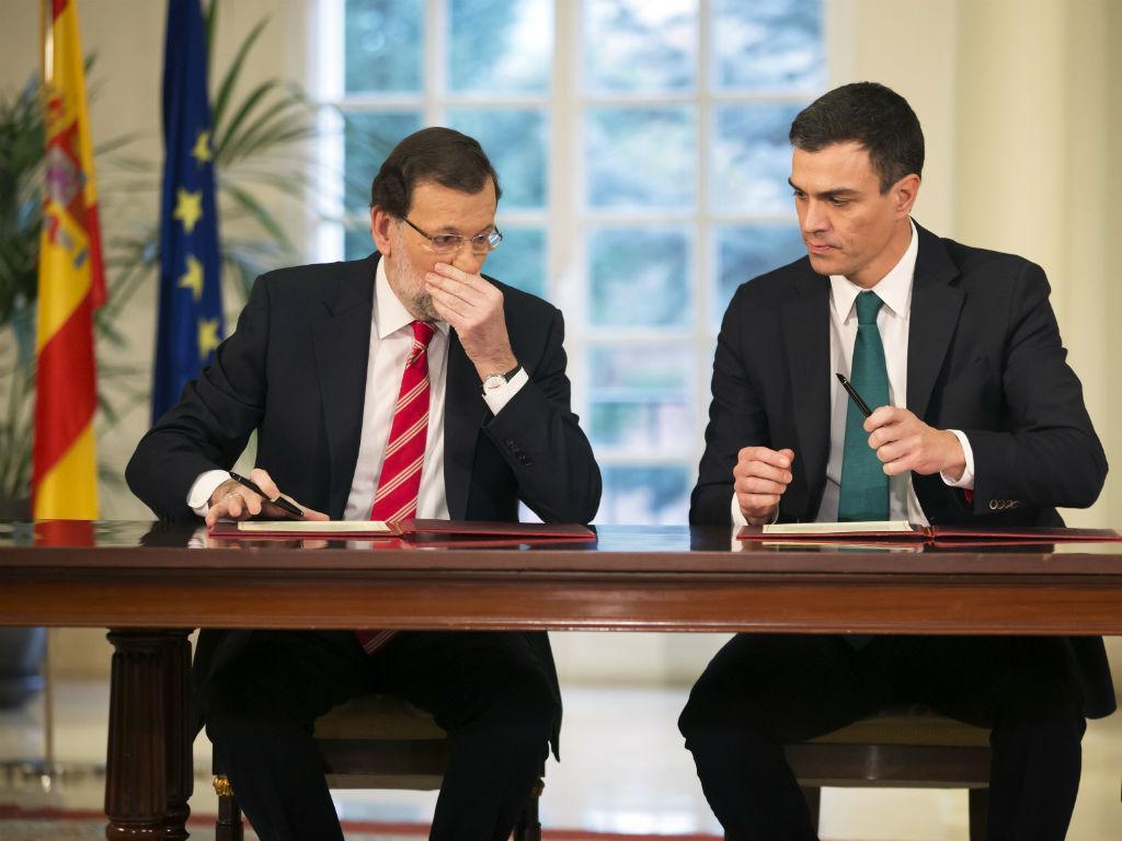 Mariano Rajoy e Pedro Sanchez [Foto: Reuters]