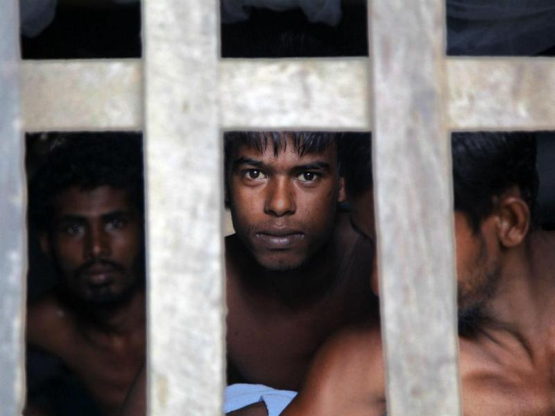 Imigrantes na Malásia [Foto: EPA]