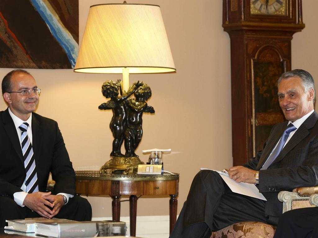 António Ventinhas e Cavaco Silva (Foto: Lusa/Manuel de Almeida)