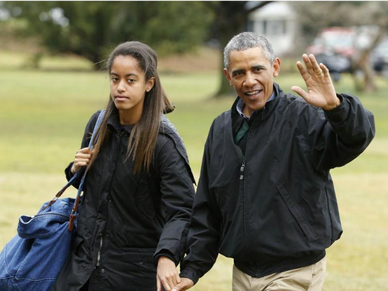 Malia e Barack Obama (Reuters)