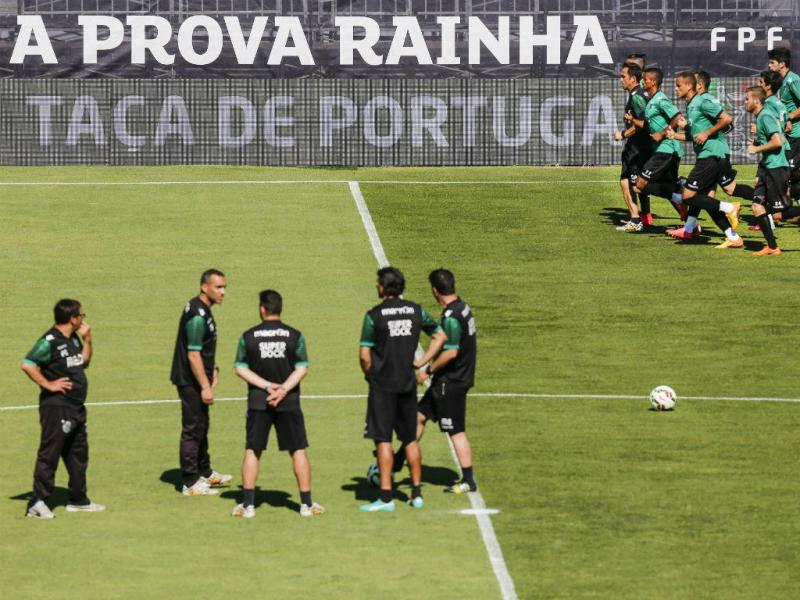 Treino do Sporting no Jamor (foto: Diogo Pinto/FPF)