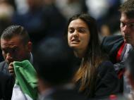 Manifestante palestiniana