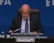 Blatter diz quer evitar chegar a uma