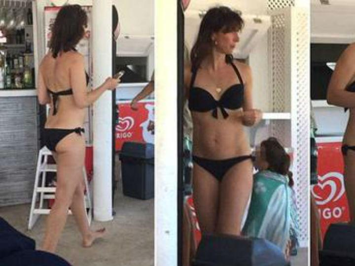 Mulher de David Cameron fotografada em Ibiza (Foto Twitter)