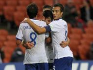 Qatar-Portugal: Podstawski celebra golo com colegas