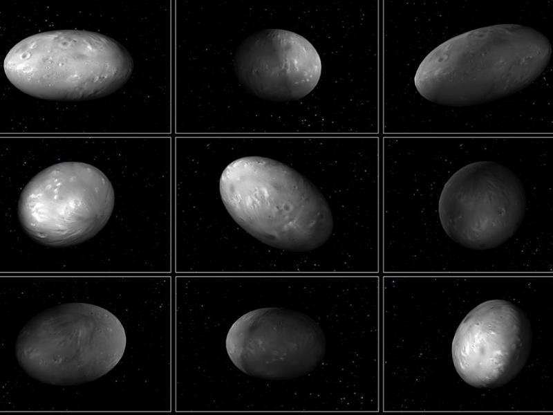 Nix, lua de Plutão (Foto: NASA/ESA/M. Showalter/G. Bacon)