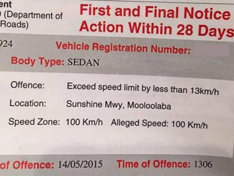 Apanha multa por cumprir limite de velocidade [Facebook]