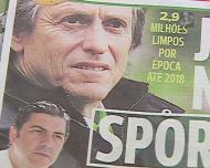 Saída de Jesus para o Sporting faz plenos nas manchetes dos jornais