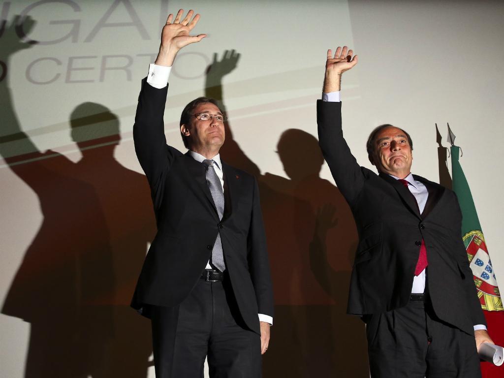 Passos Coelho e Paulo Portas (Lusa/paulo Novais)
