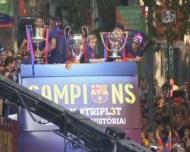 Milhares nas ruas de Barcelona para receberem o campeão europeu