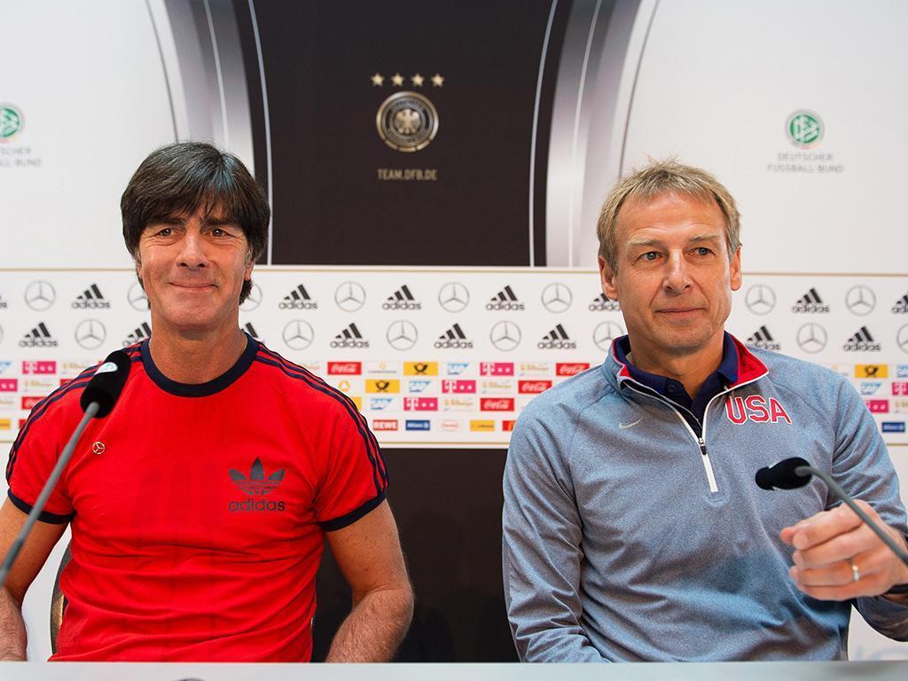 Juergen Klinsmann e Joachim Loew (Lusa)