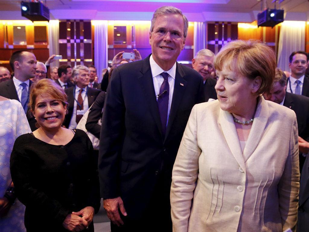 Jeb Bush em Berlim (Fabrizio Bensch/Reuters)
