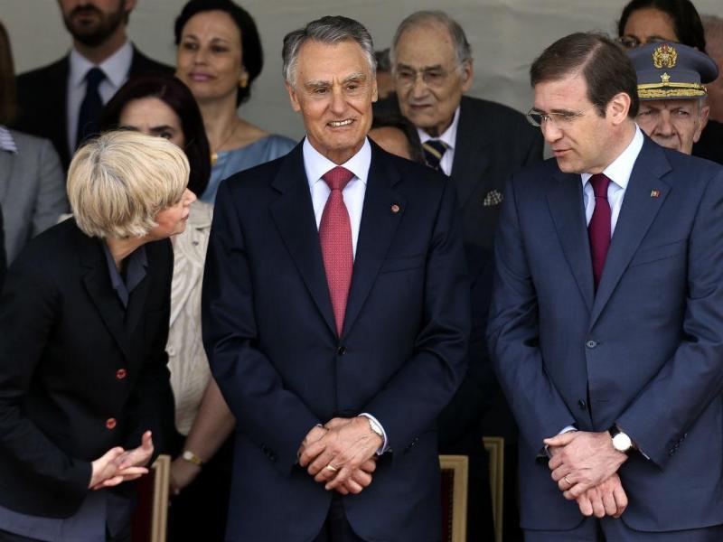 Assunção Esteves, Cavaco Silva e Passos Coelho (Lusa/Paulo Novais)