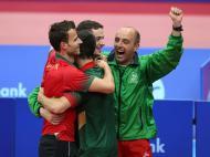 Seleção Portuguesa de Ténis de Mesa vence na final de Baku2015 (Lusa)