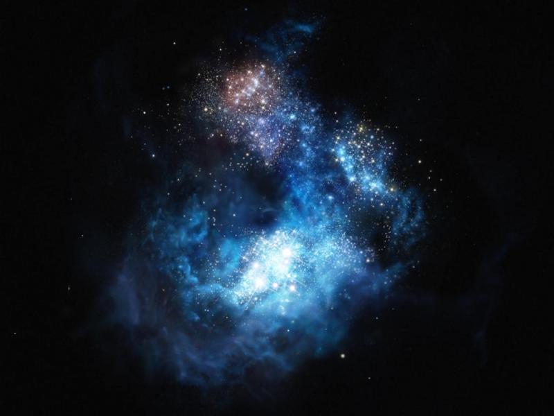 Galáxia CR7 [ESO/M. Kornmesser]