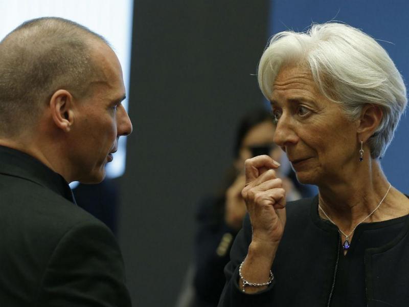Yanis Varoufakis e Christine Lagarde [Foto: EPA]