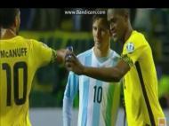 Deshorn Brown tira selfie com Lionel Messi