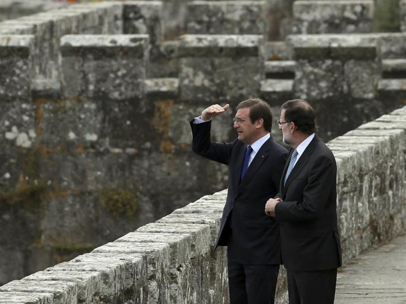 Passos e Rajoy na Cimeira Ibérica [Lusa]