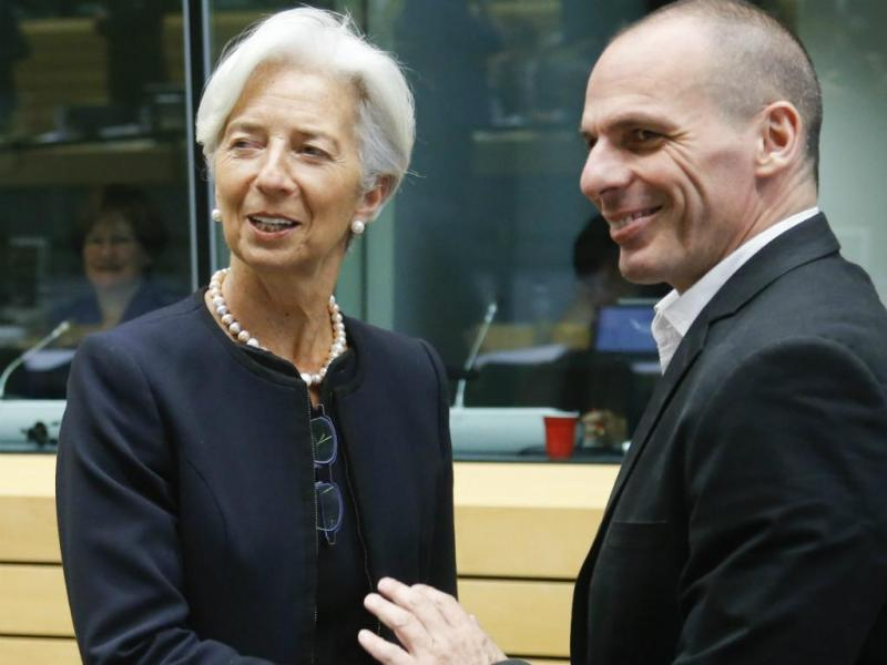 Lagarde e Varoufakis [EPA]