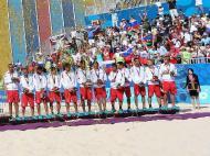 Futebol de Praia: Portugal conquista medalha de bronze nos Jogos Europeus (EPA/SRDJAN SUKI)