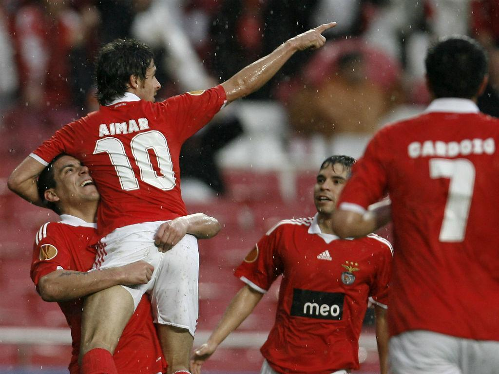 Aimar e Saviola no Benfica (Reuters)