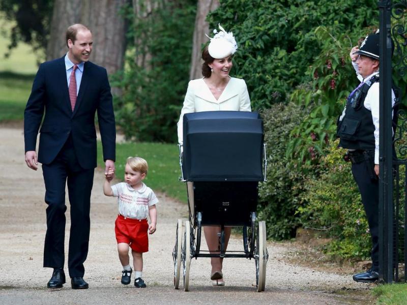 Duques de Cambridge com os filhos, os príncipes George e Charlotte