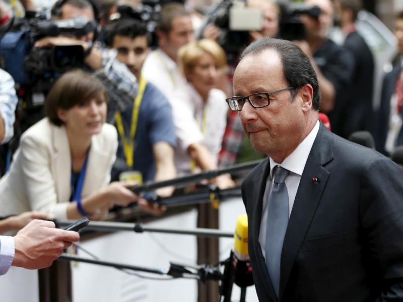 François Hollande (França) à chegada a Bruxelas (Reuters)