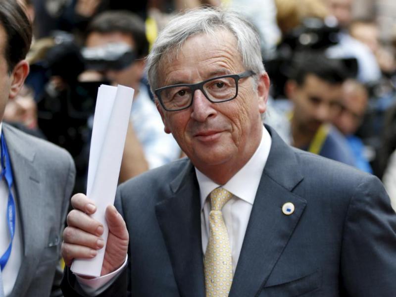 Jean-Claude Juncker à chegada a Bruxelas (Reuters)