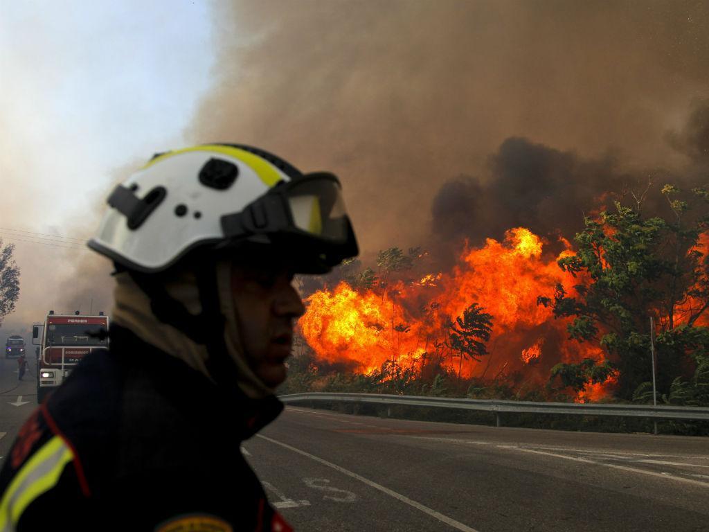 Incêndio em Tomar (PAULO CUNHA/LUSA)