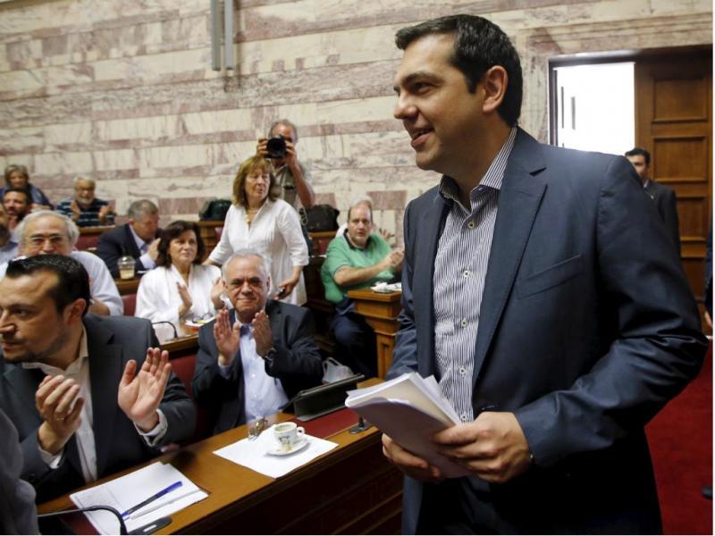 Alexis Tsipras no Parlamento Grego [Reuters]