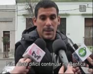 Maxi Pereira a falar do futuro, entre Benfica e FC Porto