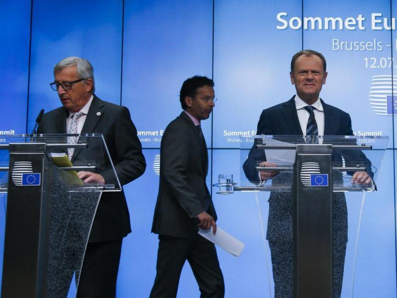 Jean-Claude Juncker, Donald Tusk e Jeroen Dijsselbloem [Reuters]