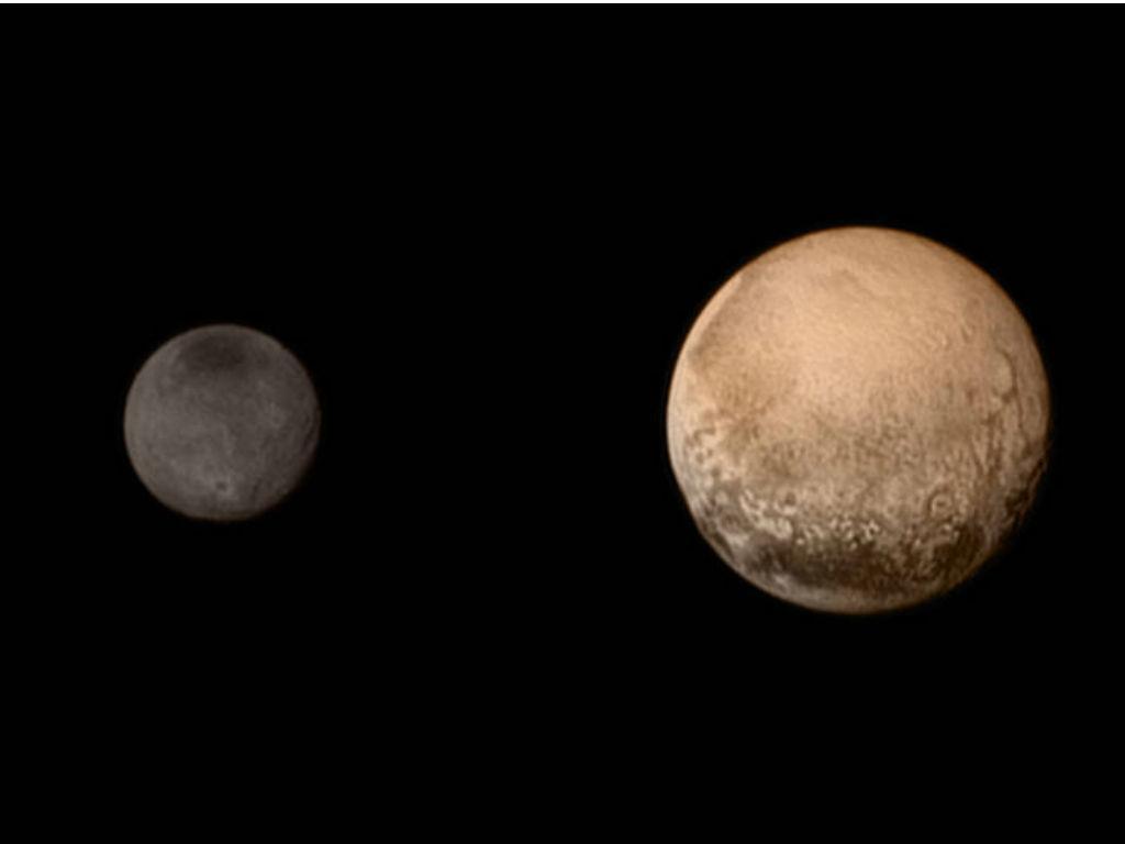 Imagens de Plutão captadas pela sonda espacial New Horizons [Fonte: NASA]