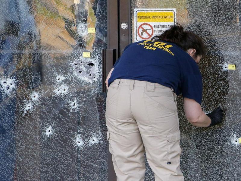 Tiroteio em edifícios militares nos EUA faz cinco mortos e três feridos (Lusa/EPA)