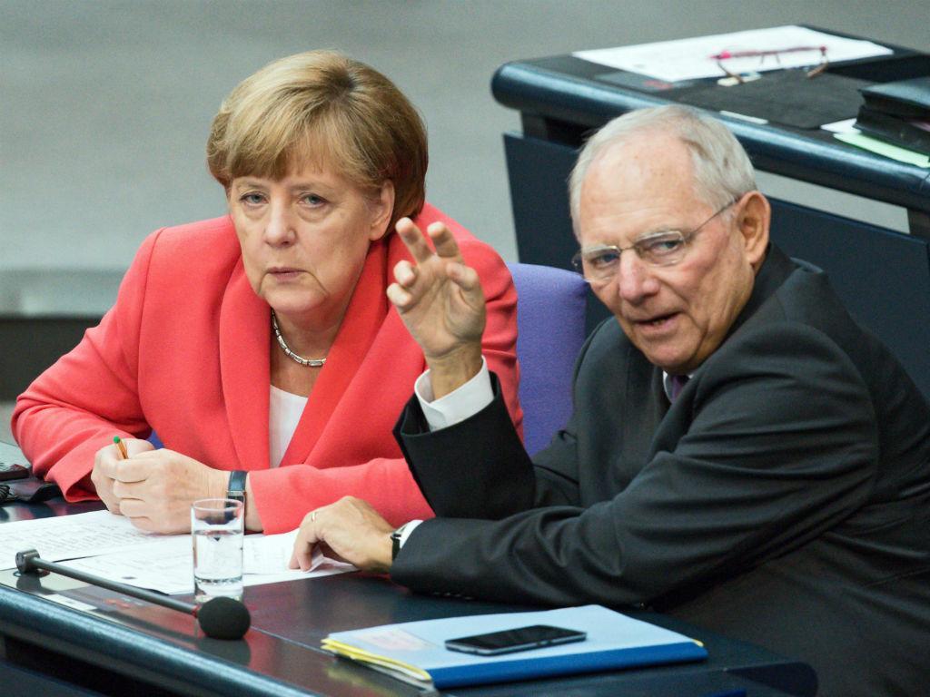 Angela Merkel e Wolfgang Schauble [EPA]