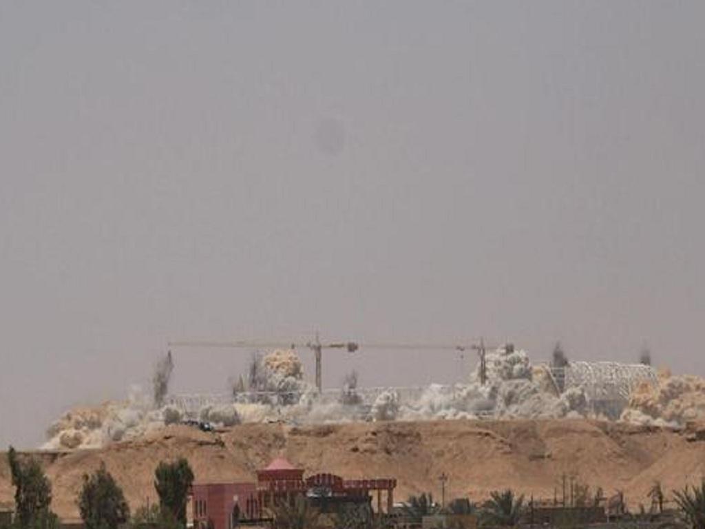 Estádio demolido no Iraque (Sky News)