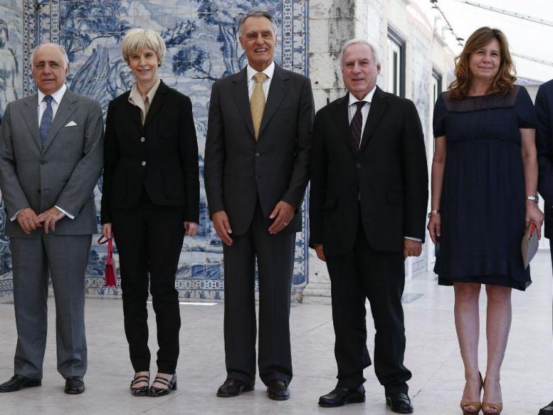 Cavaco Silva almoça com lideres parlamentares (ANTÓNIO COTRIM/LUSA)