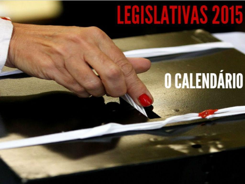 Calendário das Legislativas