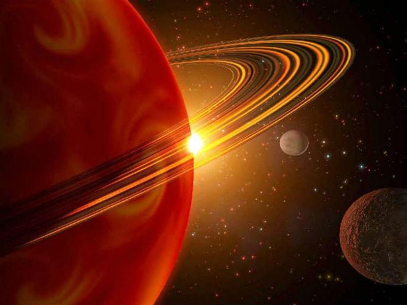 Vista de um planeta que se assemelha em aspeto e tamanho a saturno [REUTERS/Stringer]