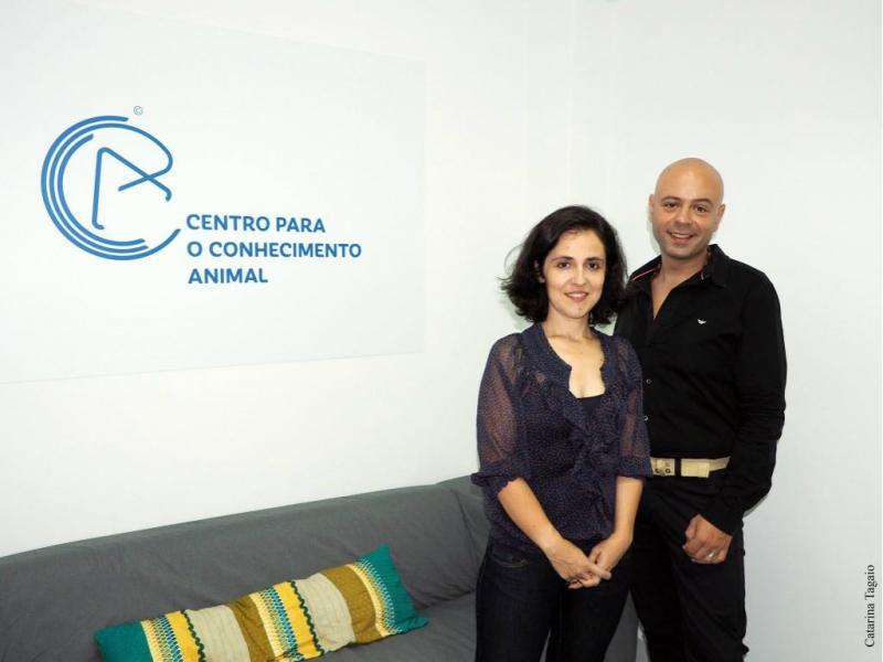 Sara Fragoso e Gonçalo da Graça Pereira - Centro Para o Conhecimento Animal [Foto: Catarina Tagaio]