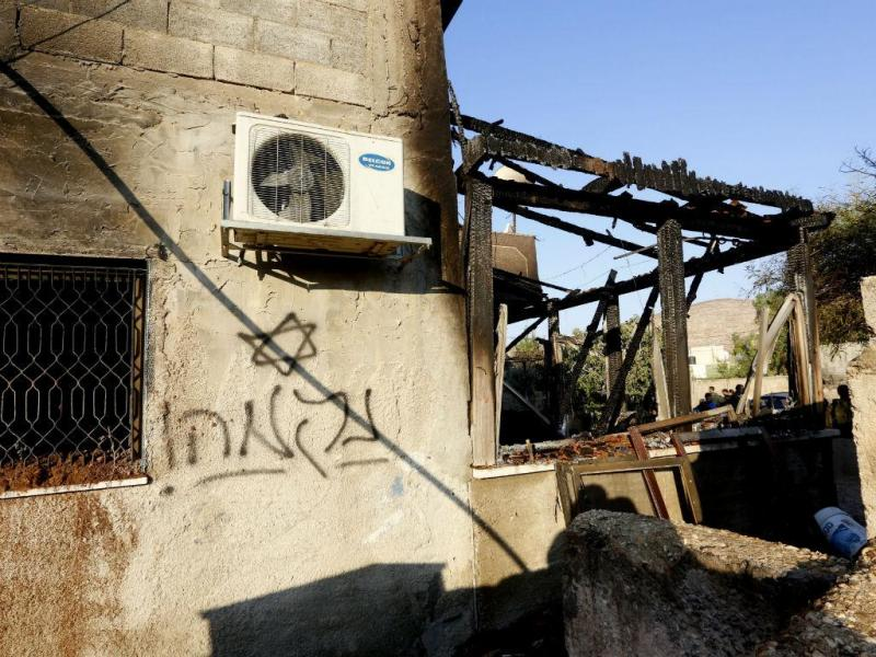 Bebé palestiniano morre em incêndio causado por israelitas (Lusa/EPA/ALAA BADARNEH)