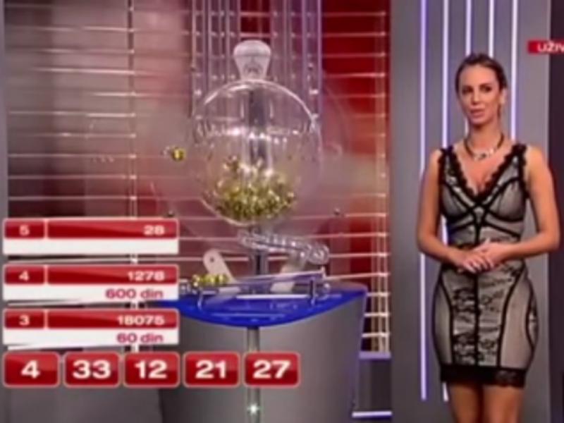Chave da lotaria revelada em direto antes do sorteio terminar